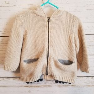 Zara Bear Paw Pocket Knit Sweater
